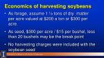 economics of harvesting soybeans