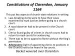 constitutions of clarendon january 1164