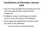 constitutions of clarendon january 11641