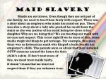 maid slavery