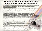 what must we do to stop child slavery