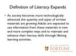 definition of literacy expands