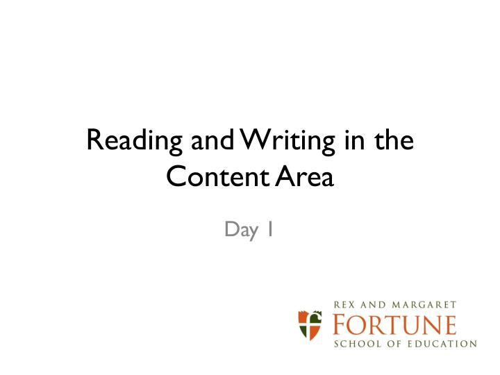 reading and writing in the content area n.