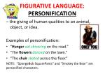 figurative language personification