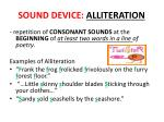 sound device alliteration