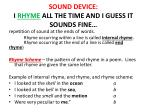 sound device i rhyme all the time and i guess it sounds fine