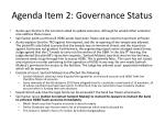 agenda item 2 governance status