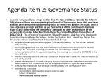 agenda item 2 governance status1