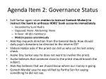 agenda item 2 governance status2