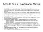agenda item 2 governance status4