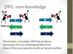 hv zero knowledge