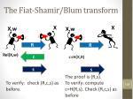 the fiat shamir blum transform