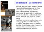 seabiscuit background