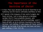 the importance of the doctrine of christ11