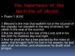 the importance of the doctrine of christ17