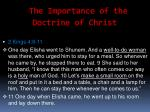 the importance of the doctrine of christ21