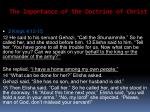 the importance of the doctrine of christ23