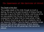 the importance of the doctrine of christ33