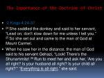 the importance of the doctrine of christ34