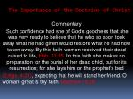 the importance of the doctrine of christ41