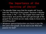 the importance of the doctrine of christ54