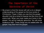 the importance of the doctrine of christ56