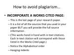 how to avoid plagiarism1
