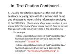 in text citation continued