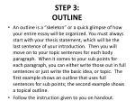 step 3 outline