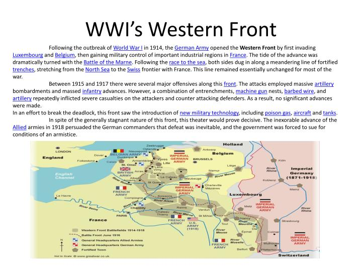 wwi s western front n.