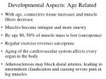 developmental aspects age related