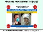 airborne precautions signage