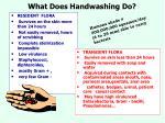 what does handwashing do