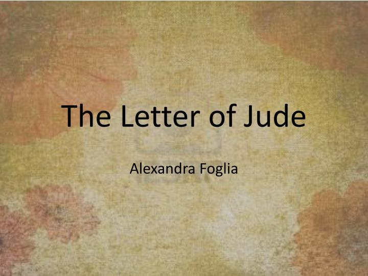 the letter of jude n.