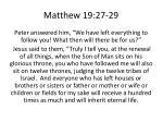 matthew 19 27 29