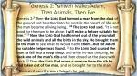genesis 2 yahweh makes adam then animals then eve