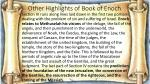 other highlights of book of enoch