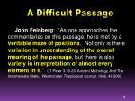 a difficult passage1