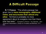a difficult passage2