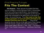 christ preaching to angels fits the context3