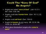 could the sons of god be angels