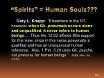 spirits human souls1