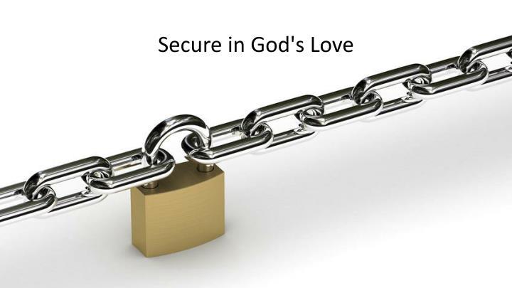 Secure in god s love