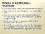 analysis of cosmological arguments