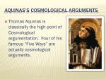 aquinas s cosmological arguments