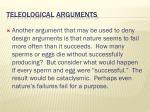 teleological arguments4