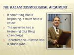 the kalam cosmological argument1