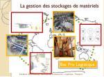 la gestion des stockages de mat riels