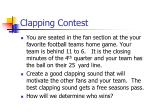 clapping contest