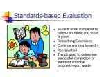 standards based evaluation1